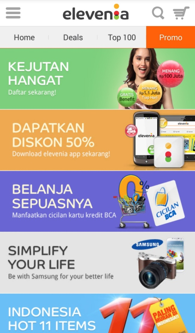 SK Planet launched open market Elevenia in partnership with Indonesia's second-largest telecom operator XL Axiata on Wednesday. ( SK Planet)