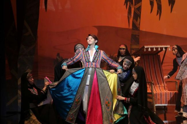 "K-pop star Yang Yoseop of Beast stars in the Korean production of Andrew Lloyd Webber and TimRice's rock musical ""Joseph and the Amazing Technicolor Dreamcoat."" (Live&Company)"