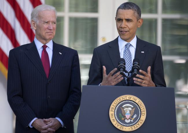 U.S. President Barack Obama speaks at the White House on Tuesday. (AP-Yonhap)