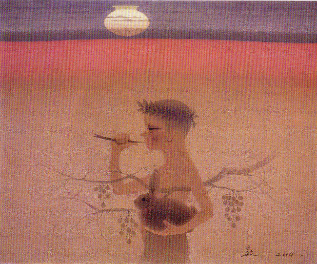 """A Boy on a Hill"" by Park Don (Chung Jark Gallery)"