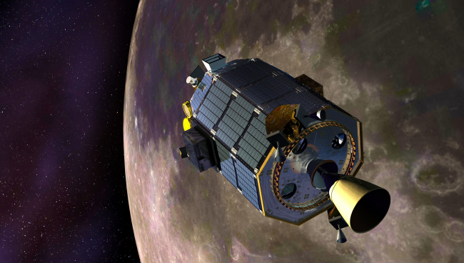 An artist's conception of the LADEE spacecraft ( AP-Yonhap)