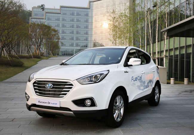 Hyundai Motor's fuel-cell Tucson. (Hyundai Motor)
