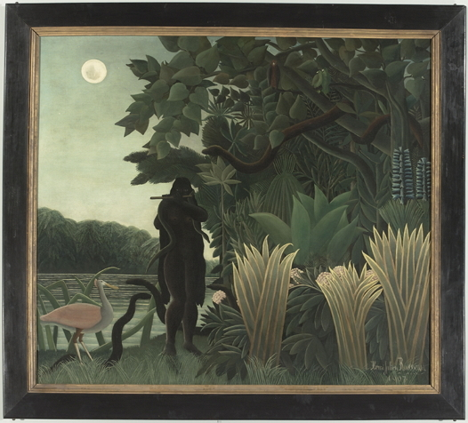 """""""The Snake Charmer"""" (1907) by Henri Rousseau (Musee d'Orsay)"""