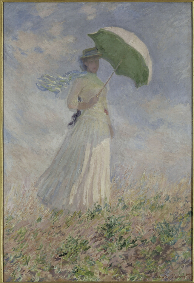 """Woman with a Parasol Turned to the Right"" (1886) by Claude Monet (Musee d'Orsay)"