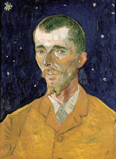 """Portrait of Eugène Boch"" (1888) by Vincent van Gogh (Musee d'Orsay)"