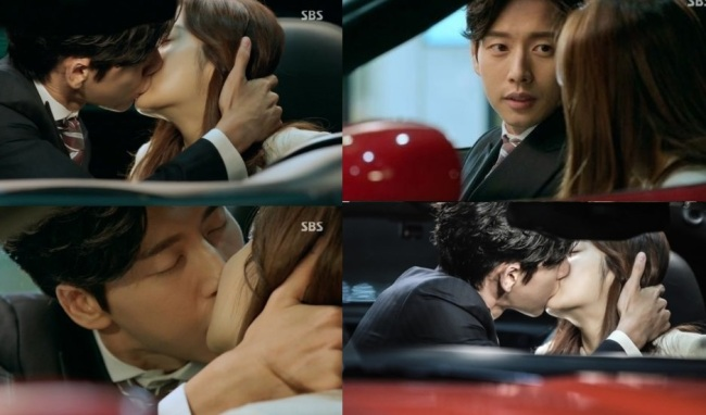 Actor Park Hae-jin kisses Kang So-ra in the third episode of