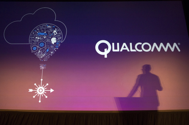 Steven Mollenkopf, chief executive officer of Qualcomm Inc., speaks during a press conference at the 2014 Consumer Electronics Show. (Bloomberg)