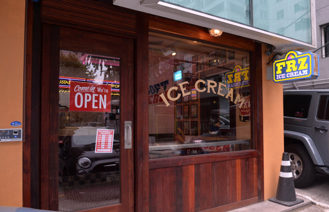 FRZ Ice Cream opened next to Brooklyn the Burger Joint in Seoul's Samseong-dong in May.