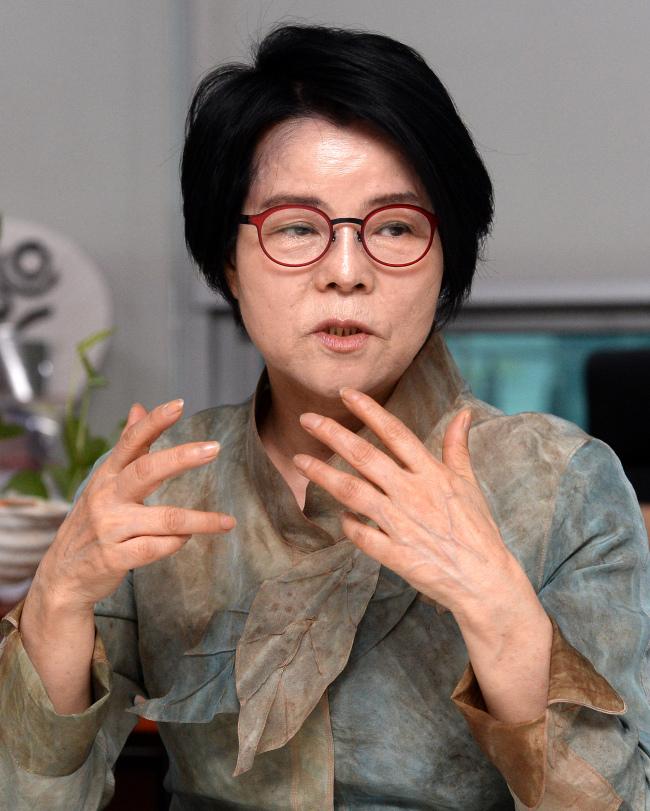 Chun Soon-ok of New Politics Alliance for Democracy (<b>Ahn Hoon</b>/The Korea ... - 20140629000351_0