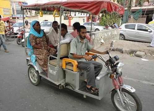 Rajesh Taneja, who used to be a hospital dietitian, switched to driving an e-rickshaw two years ago. His wife, who works in a private bank, was shocked at first, but Taneja now has a regular income and enjoys being his own boss. (Nirmala Ganapathy/The Straits Times)