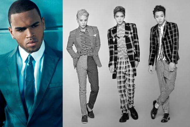 Chris Brown (Sony Music Korea) and JYJ (C-JeS Ent.)