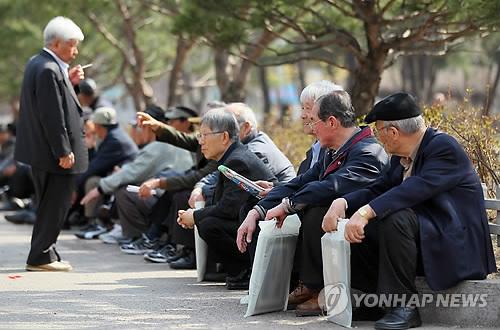 Korean seniors (Yonhap)