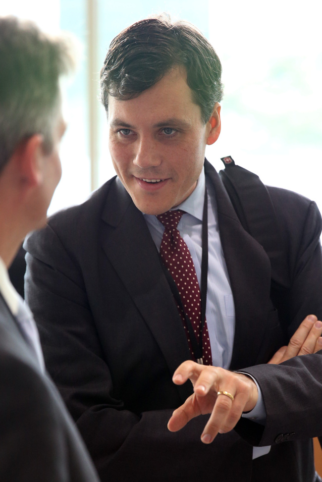 Peter Harrell, deputy assistant secretary for counter threat finance and sanctions at the U.S. State Department (Yonhap)