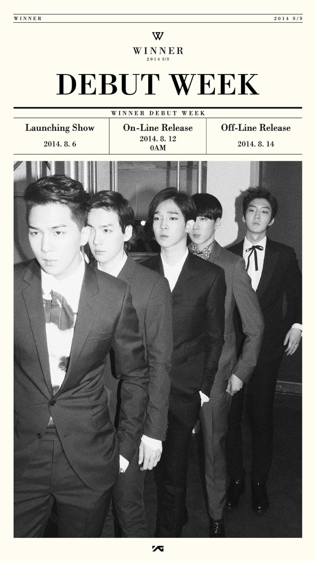 "Winner's ""Debut Week"" poster. (YG Entertainment)"