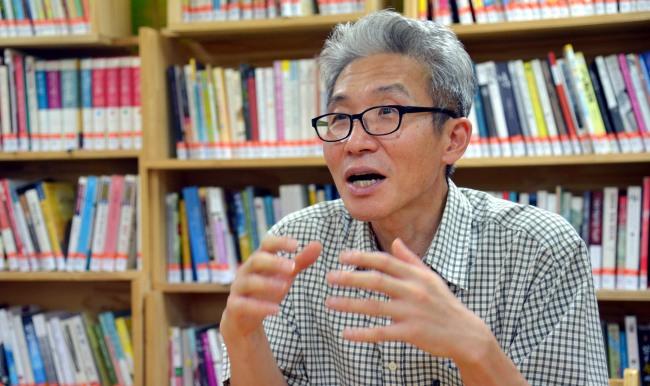 Hyeon Byeon-ho, head of the People's Solidarity of Alternative Education. (Kim Myung-sub/The Korea Herald)