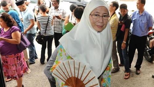 Wan Azizah Wan Ismail (The Star/Asia News Network)
