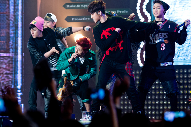 "Team B of last year's ""WIN: Who Is Next?"" boy band reality competition show. (YG Entertainment)"