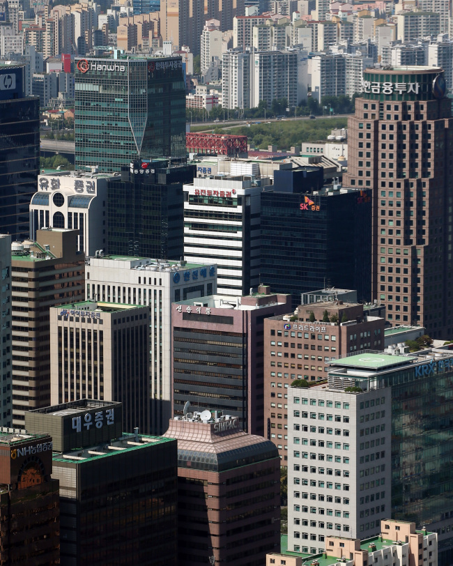 The financial district in Yeouido. (Yonhap)