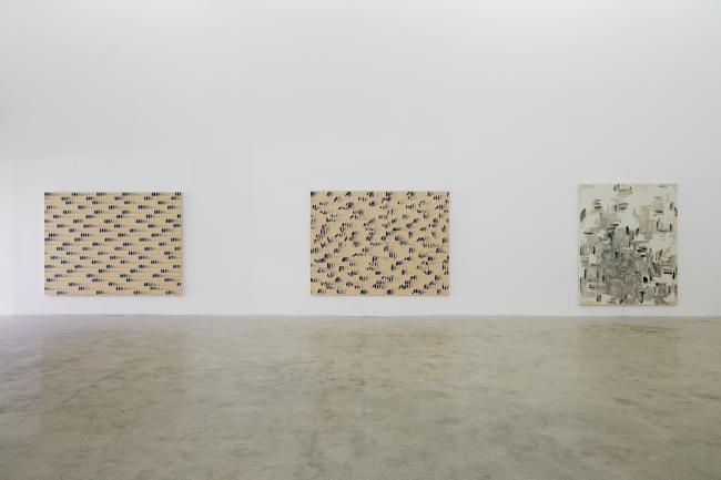 "Exhibition view of ""The Art of Dansaekhwa"" at Kukje Gallery. (Kukje Gallery)"