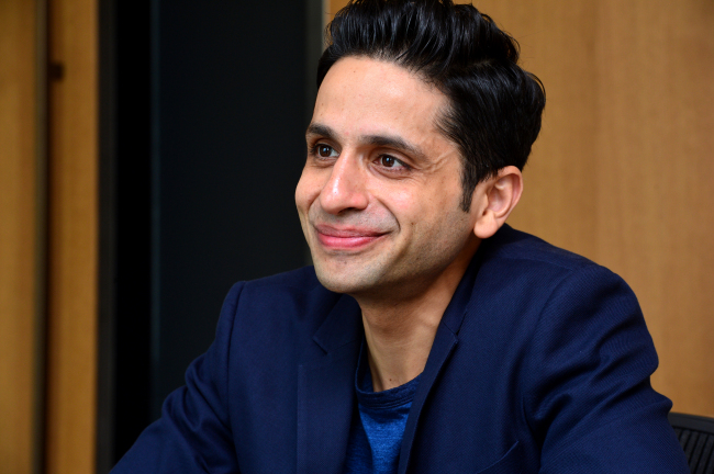 Amit Sood, director of Google Cultural Institute, talks during an interview with The Korea Herald in Seoul. (Yoon Byung-chan/The Korea Herald)