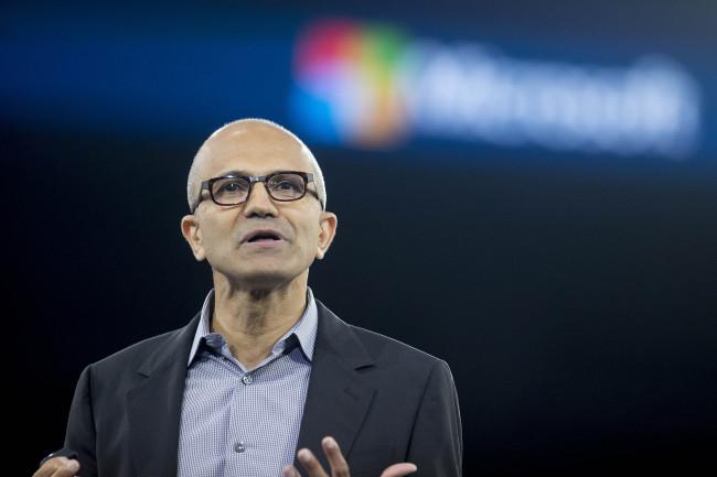 Satya Nadella, chief executive officer of Microsoft Corp. (Bloomberg)