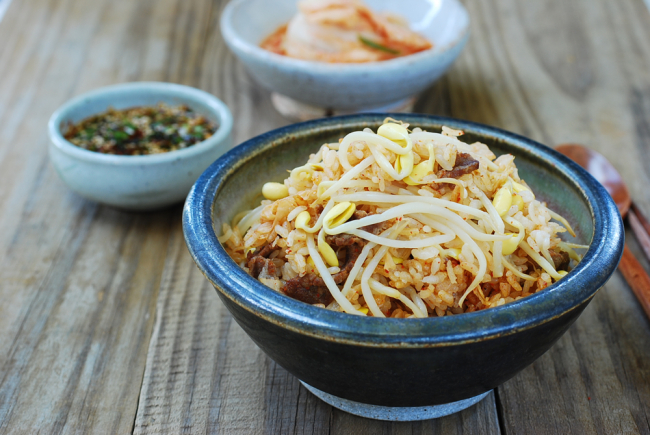 ... pork cutlet rice bowl kongnamul bap korean beansprout rice bowl