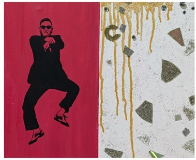 A painting of Psy made by Koo Yeon-su, daughter of LG Group chairman Koo Bon-moo