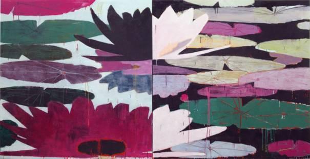 """Every Lily Day and Every Lily Night"" by Reza Derakshani (Opera Gallery)"
