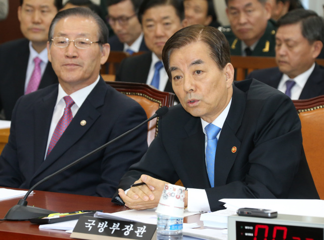 Defense Minister Han Min-koo (Yonhap)
