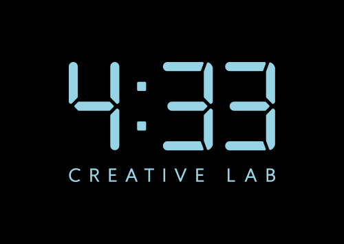 The logo of mobile game publisher 4:33 Creative Lab. (4:33 Creative Lab)