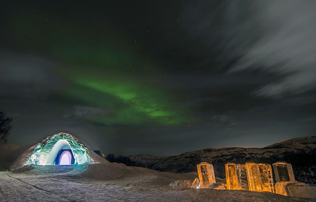 The Northern Lights above the Kirkenes Snow Hotel (MCT)