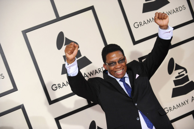 "Herbie Hancock attends the 50th Annual Grammy Awards held at the Staples Center in Los Angeles, California, Feb. 10, 2008. Hancock won Album of the Year for ""River: The Joni Letters."" (Lionel Hahn/MCT)"