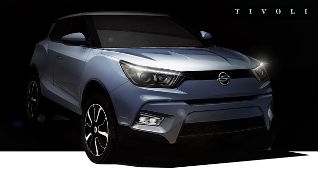 A rendering of the Ssangyong Tivoli