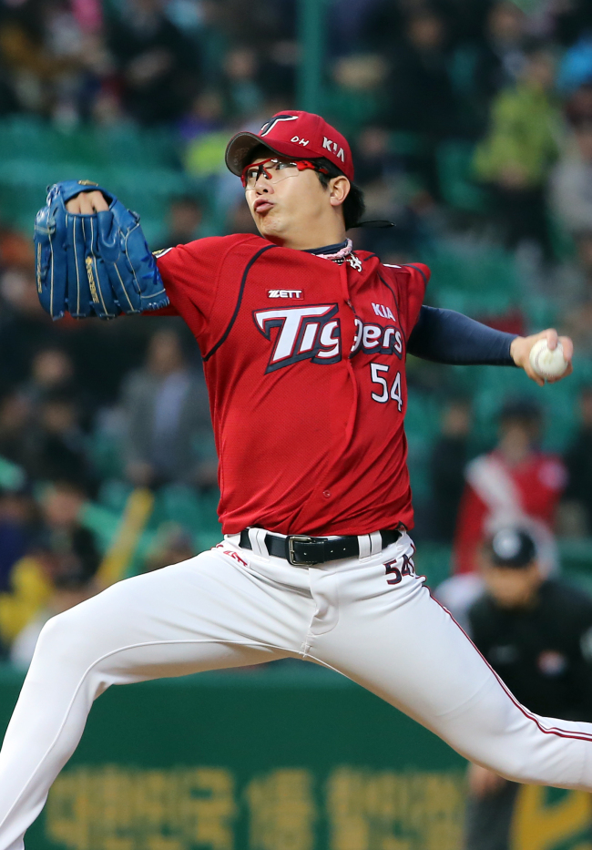 Pitcher Yang Hyeon-jong completed his seventh season in the KBO in 2014. (Yonhap)