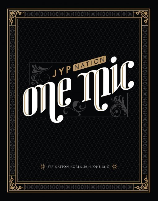 """The album cover of JYP Nation's """"One Mic"""" (JYP Entertainment)"""