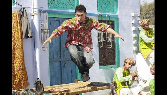 """Aamir Khan appears in a scene from the film """"PK"""" (UTV Motion Pictures)"""