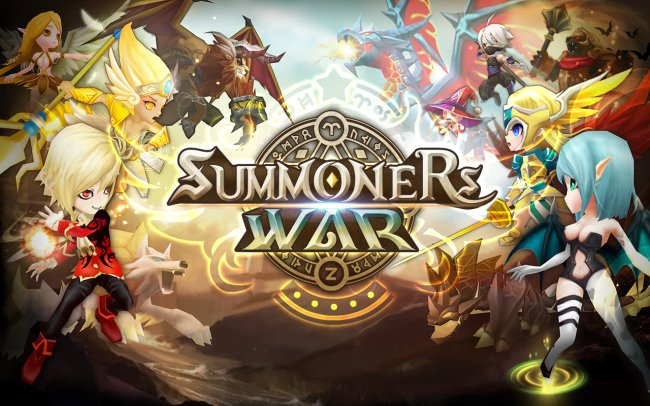 """Summoners War,"" a mobile game developed and published by Korean firm Com2us."