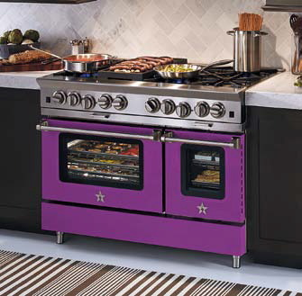 Radiant Orchid may not suit your decor, but BlueStar ranges come in more than 750 color and finish choices. (BlueStar)