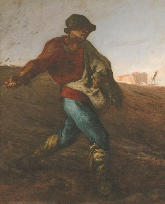 """""""The Sower"""" by Jean-Francois Millet (MFA, Boston)"""