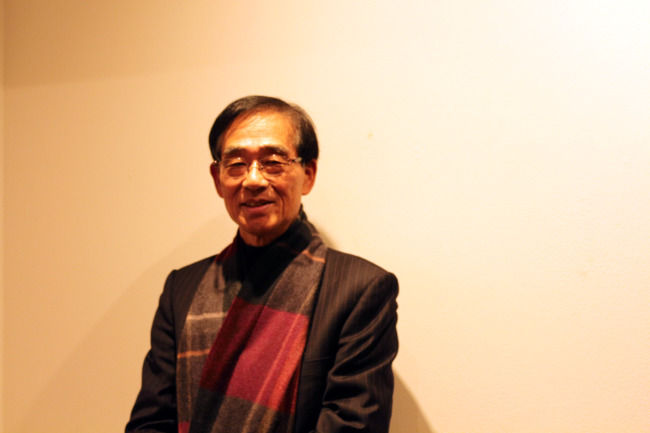 Lee Jung-sung, Nam June Paik's technician, poses at Hakgojae Gallery in Seoul.