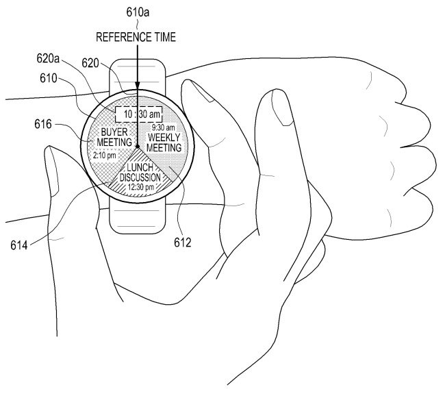 The patent drawing of Samsung's new rumored smart watch