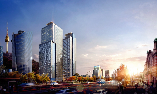 A computer-generated image of Four Points by Sheraton Seoul, Namsan, slated to open in May (Starwood Hotels & Resorts Worldwide)