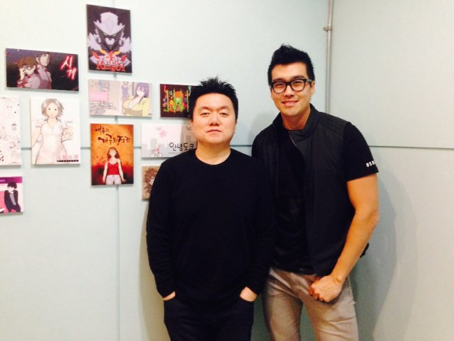 Lezhin co-founders CTO Chris Kwon (left) and director Lee Sung-eob