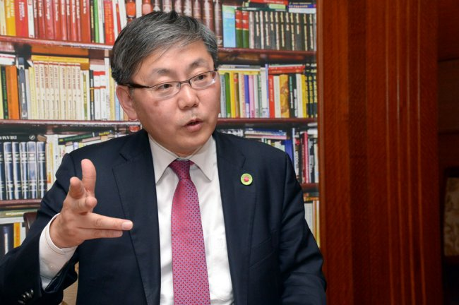 Lee Ju-myeung, director general of the food industry policy bureau at the Ministry of Agriculture, Food and Rural Affairs (Chung Hee-cho/The Korea Herald)