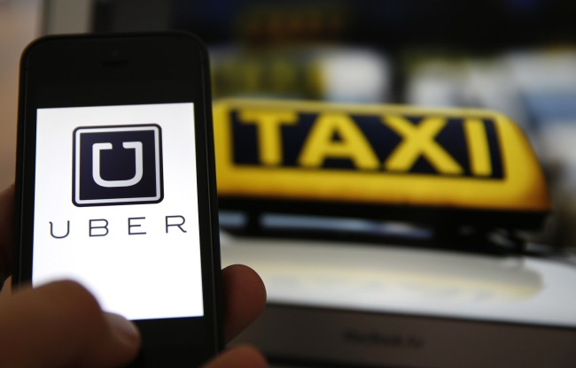 The Uber mobile application