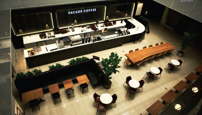 Facade Coffee espresso bar will be launched later this year at AK Plaza's branch in Suwon, Gyeonggi Province. (The Square Design)