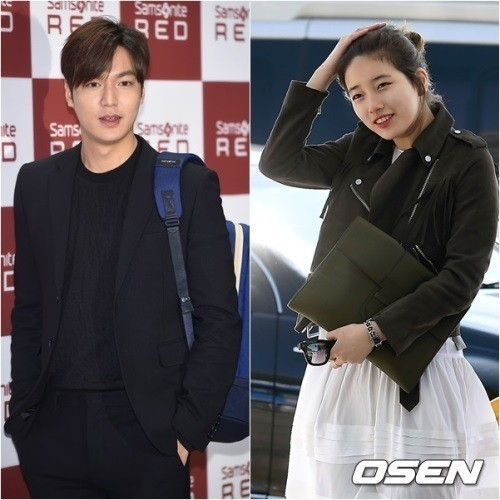 Lee Min-ho (left) and Suzy. OSEN