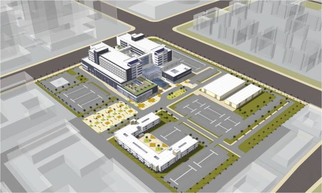 A drawing of Hanwha Group's hospital project in Bismayah, Iraq. (Hanwha)