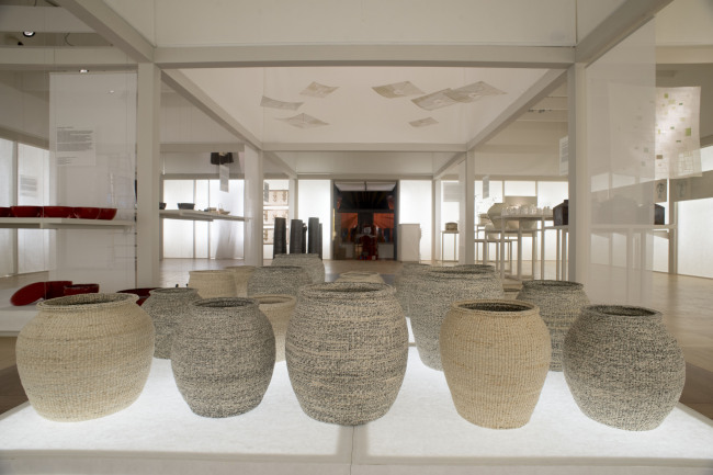 """A view of the Korean craftwork exhibit, """"Constancy and Change in Korean Traditional Craft,"""" atLa Triennale di Milano during Milan Design Week. (The Korea Craft & Design Foundation)"""