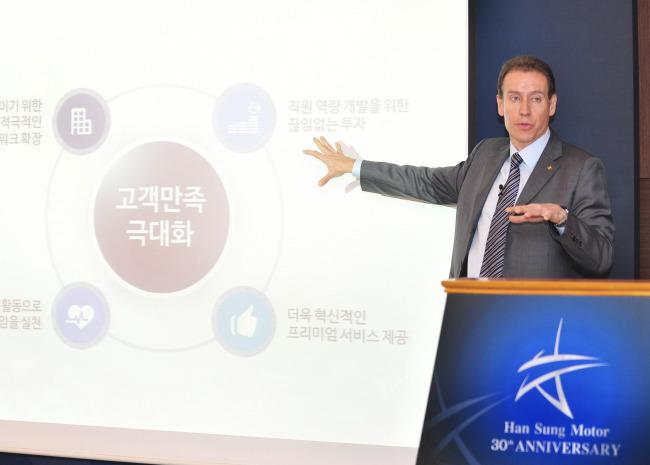 Han Sung Motor CEO Ulf Ausprung